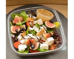 Vijgen, walnoten en geitenkaas salade