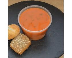 Soupe de tomates basilic